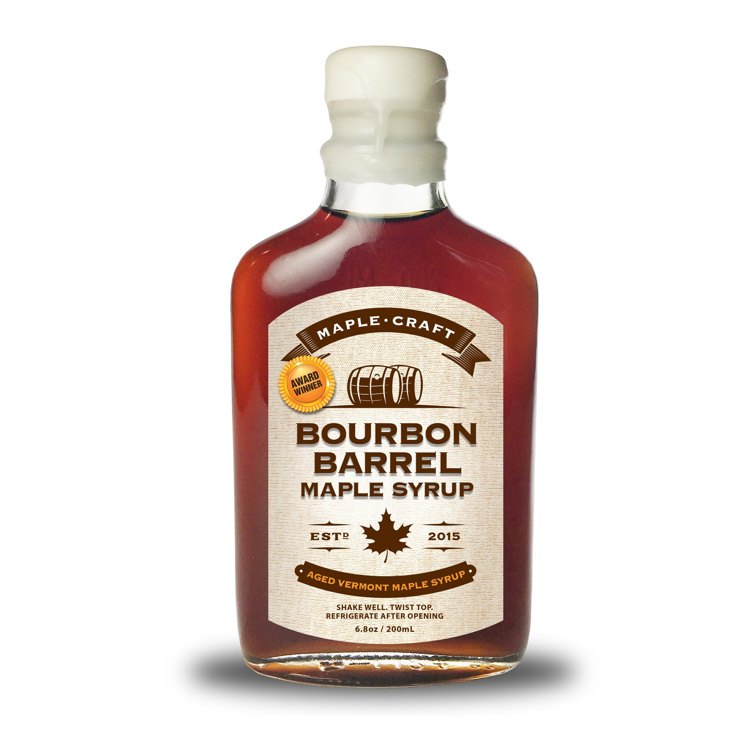 maple craft bourbon barrel flavored maple syrup hidden springs maple