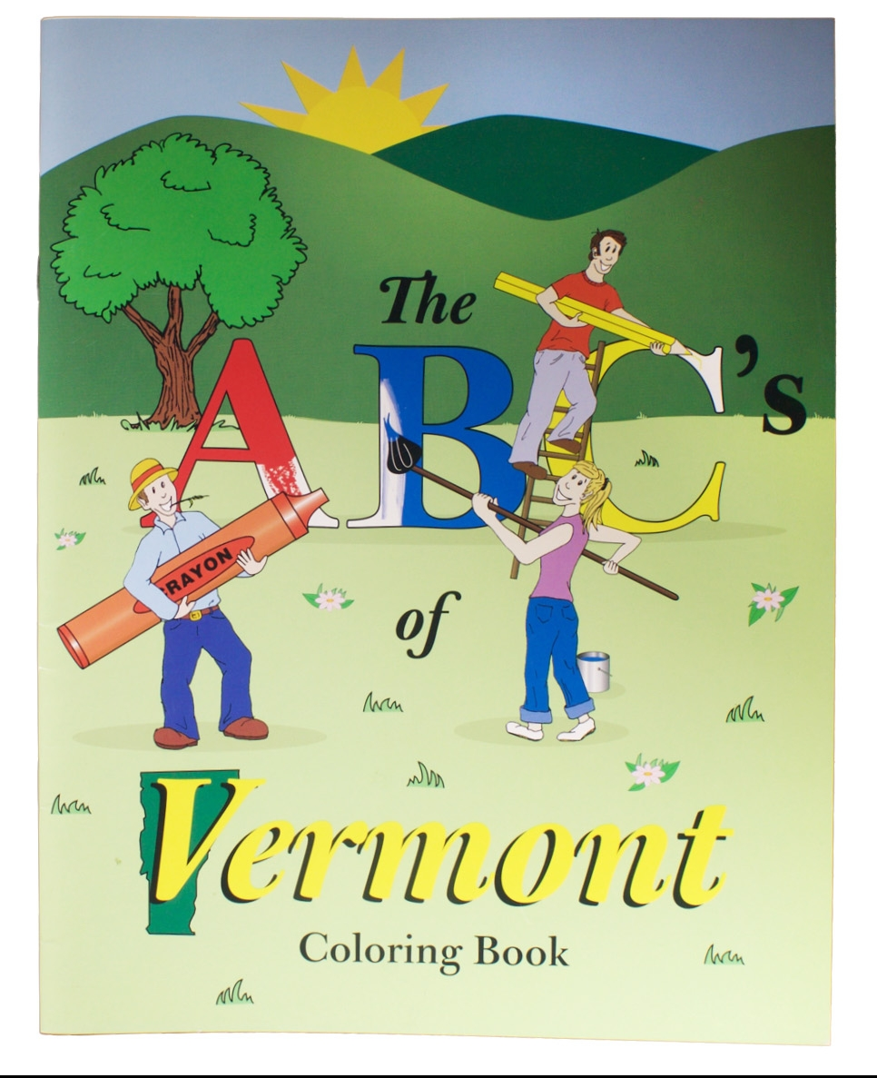 The ABC's of Vermont Coloring Book – Illustrated by Sarah Dupeyron