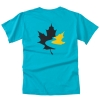 Men's Garment Dyed T Shirt - Turquoise (Small)