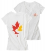 Women's V-Neck T Shirt - White (Small)