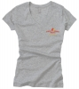 Women's V-Neck T Shirt - Heather Grey (Small)