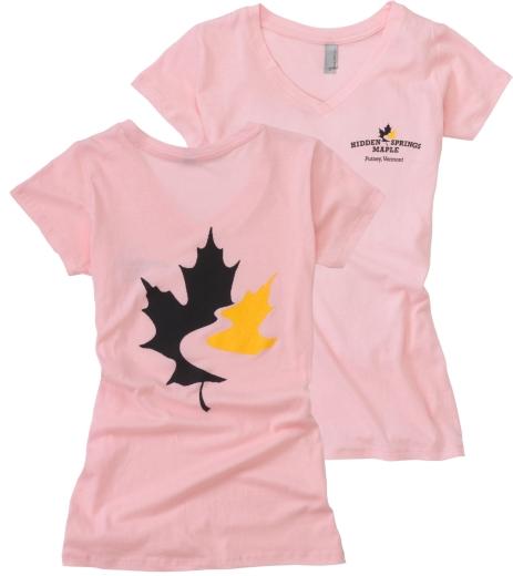 Women's V-Neck T Shirt - Light Pink (Small)