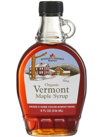 Glass Bottle, Organic Maple Syrup (8 oz, Dark Robust)
