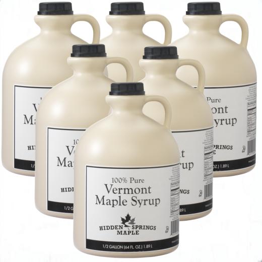 Case of 6 White Label Half Gallons (Half gallon, Amber Rich)