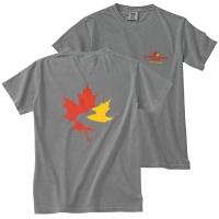 Men's Garment Dyed T Shirt - Grey (Small)