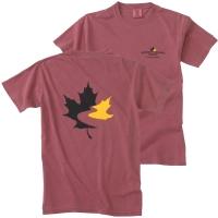 Men's Garment Dyed T Shirt - Brick (Small)