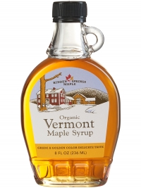 Glass Bottle, Organic Maple Syrup (8 oz,  Golden Delicate)