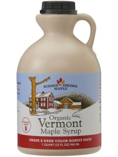 Quart of Dark Robust Organic Maple Syrup