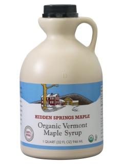 Plastic Jug, Organic Maple Syrup (Quart, Amber Rich)