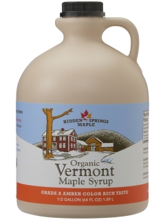 Plastic Jug, Organic Maple Syrup (Half gallon, Amber Rich)