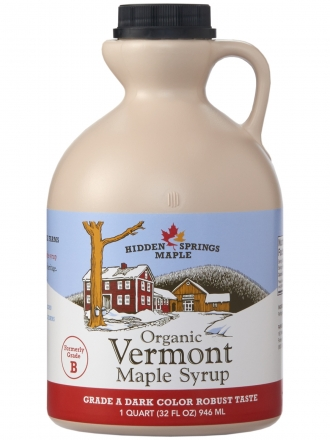 Plastic Jug, Organic Maple Syrup (Quart, Dark Robust)