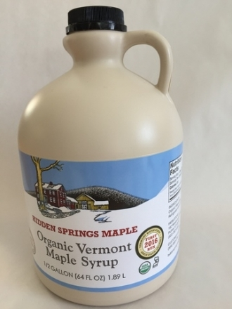 2016 First Run Organic Maple Syrup (Half gallon,  Golden Delicate)