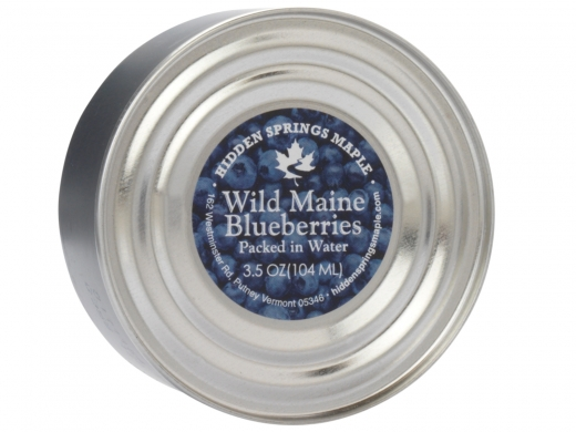 3.5 oz tin Wild Maine Blueberries